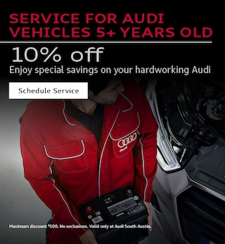SERVICE FOR AUDI VEHICLES 5+ YEARS OLD