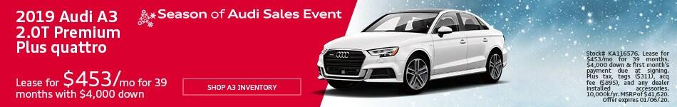 December 2019 Audi A3 2.0T Premium Plus quattro