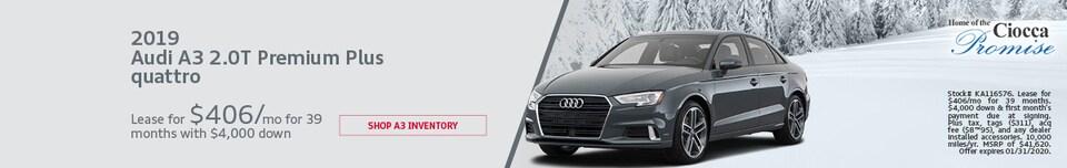 2019 Audi A3 2.0T Premium Plus quattro