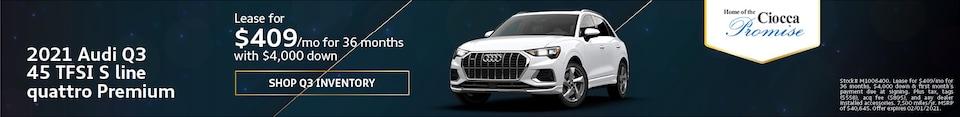 2021 Audi Q3 45 TFSI S line quattro Premium