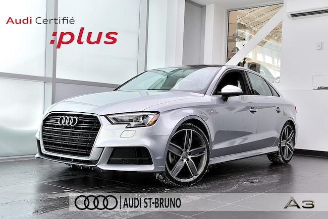 2018 Audi A3 PROGRESSIV + S-LINE + DEMO Berline