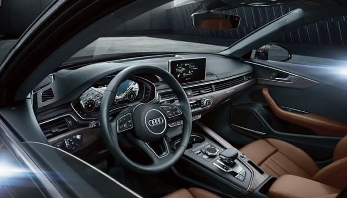 2018 Audi A4 Three-Spoke Multi-function Steering Wheel