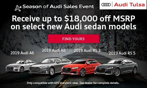 Up to $18,000 off MSRP on Audi Sedans