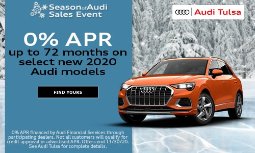 0% APR up to 72 months on select new 2020 Audi models