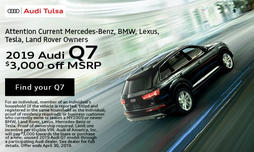 April Audi Q7 New Owner Offer