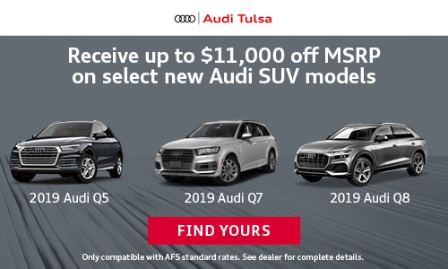 Up to $11,000 off MSRP on Audi SUVs