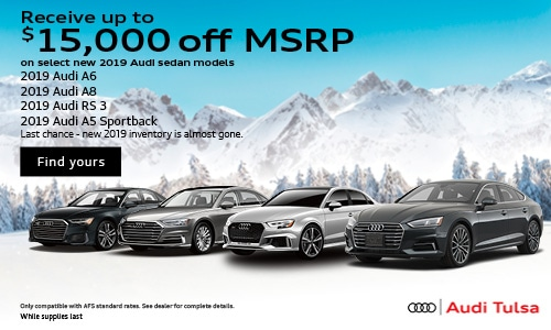 Up to $15,000 off MSRP on 2019 Audi Sedans