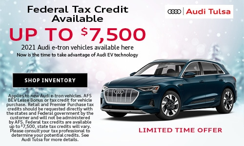 Federal Tax Credit Available up to $7,500