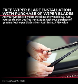 FREE WIPER BLADE INSTALLATION WITH PURCHASE OF WIPER BLADES