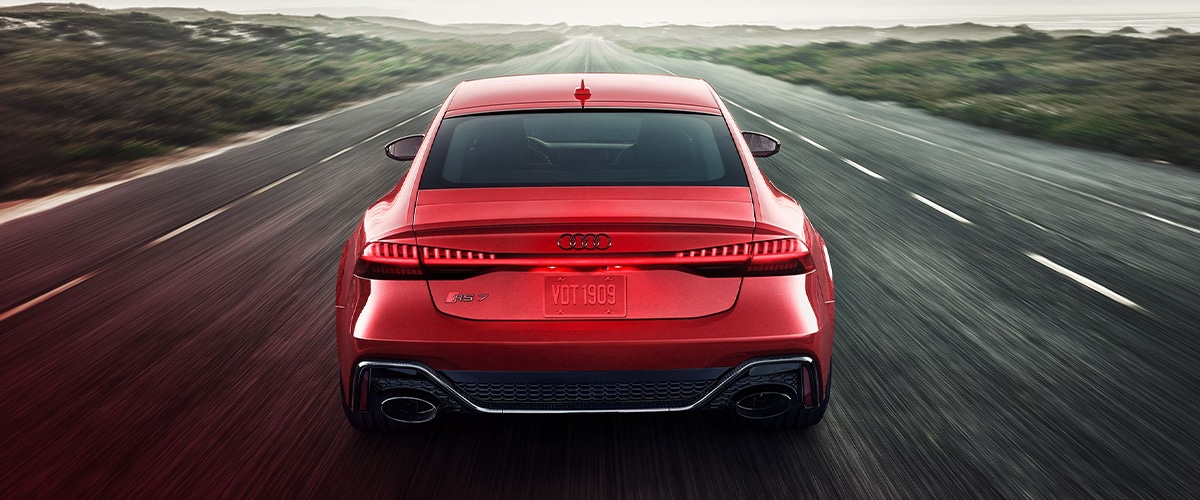 Rear-View of Audi RS7