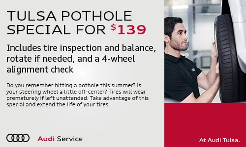 TULSA POTHOLE SPECIAL FOR $139