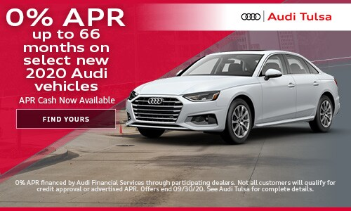 0% APR up to 66 months on select new 2020 Audi vehicles