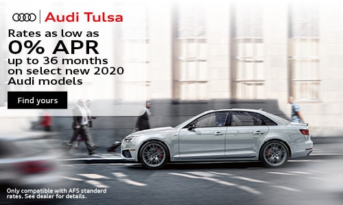 Rates as low as 0% APR up to 36 months on select new 2020 Audi models