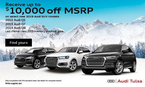 Up to $10,000 off MSRP on 2019 Audi SUVs