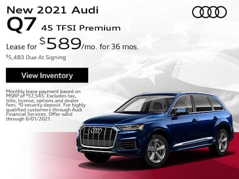 New 2021 Audi Q7 45 TFSI Premium