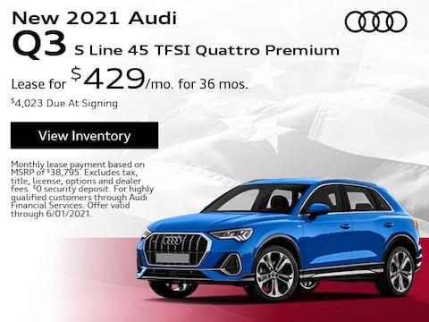 New 2021 Audi Q3 S Line 45 TFSI Quattro Premium