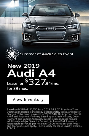August 2019 Audi A4 Special