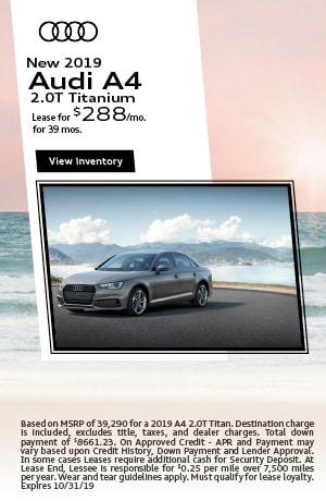 October | 2019 | Audi | A4 | Lease