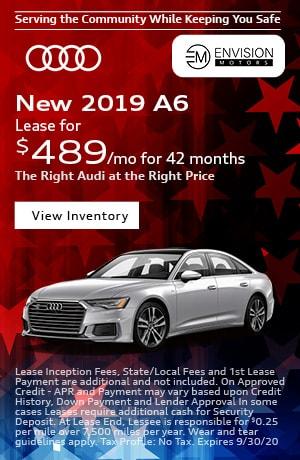 September | 2019 Audi A6 | Lease