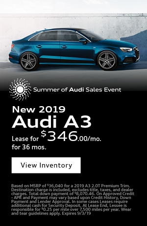 August 2019 Audi A3 Special