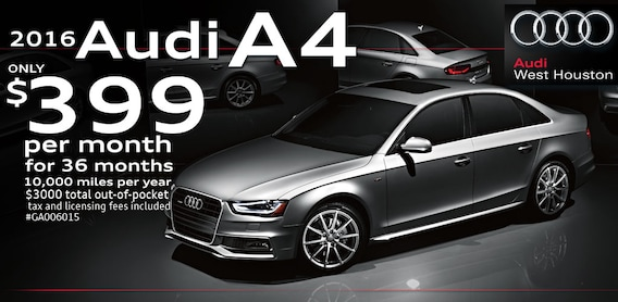 Financing Specials At Audi West Houston - Audi west houston