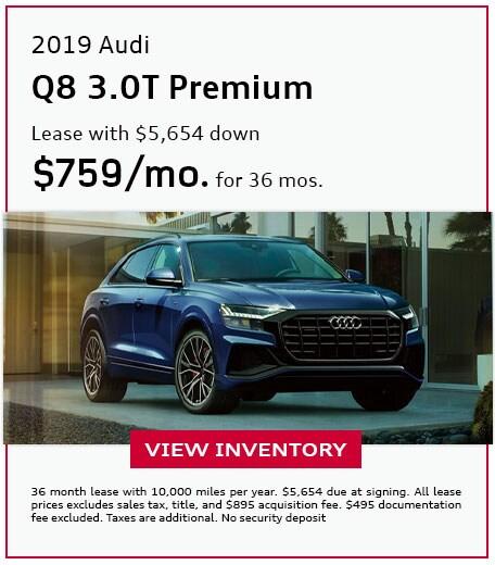 2019 Q8 3.0T Premium - Lease for $759/mo
