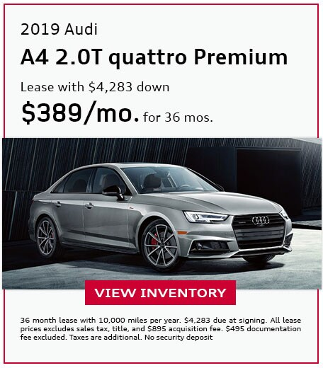 2019 A4 2.0T quattro Premium - Lease for $389/mo