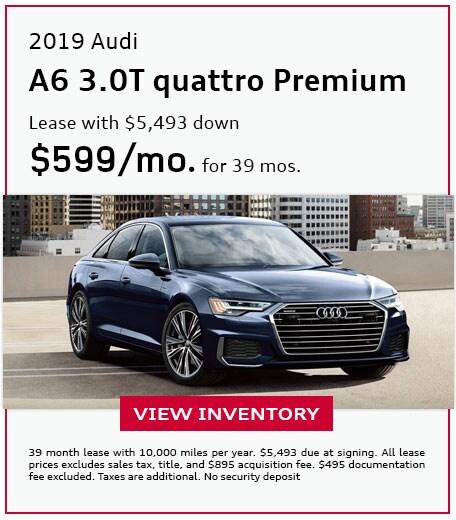 2019 A6 3.0T quattro Premium - Lease for $599