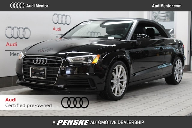Certified Pre-Owned 2015 Audi A3 Cabriolet quattro 2.0T Premium Plus Cabriolet  for Sale in Mentor, OH