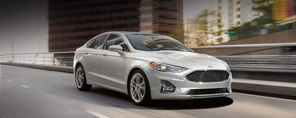 2019 Ford Fusion on Highway