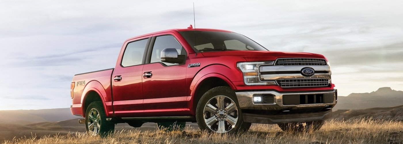 Red F-150 in a Field