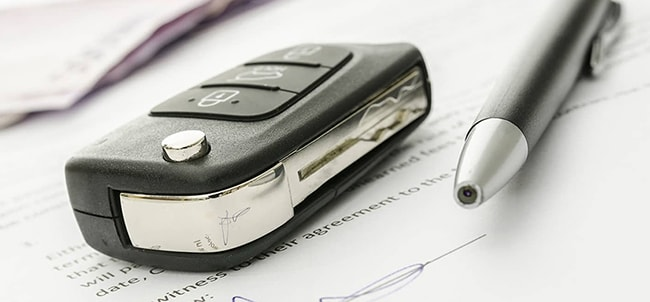 Car Key and Document