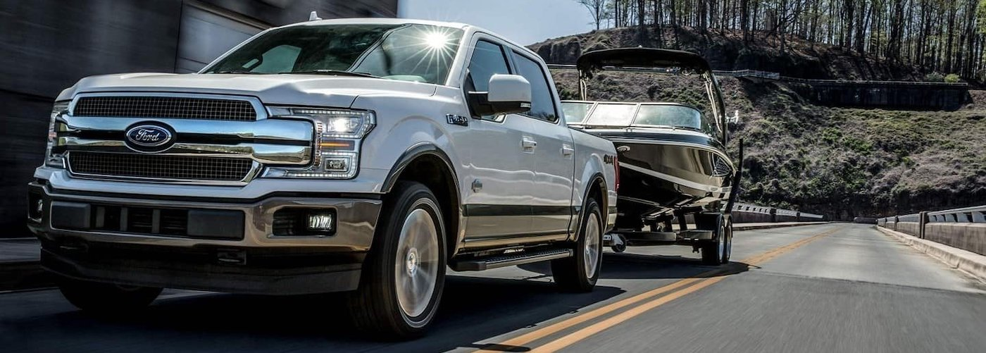 Silver F-150 Towing