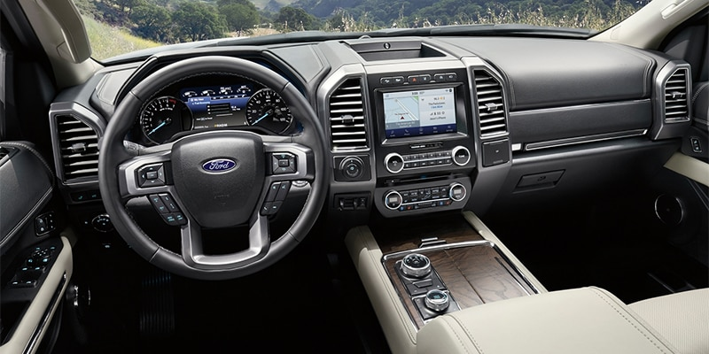 Ford Expedition Front Interior Seating and Dashboard Features