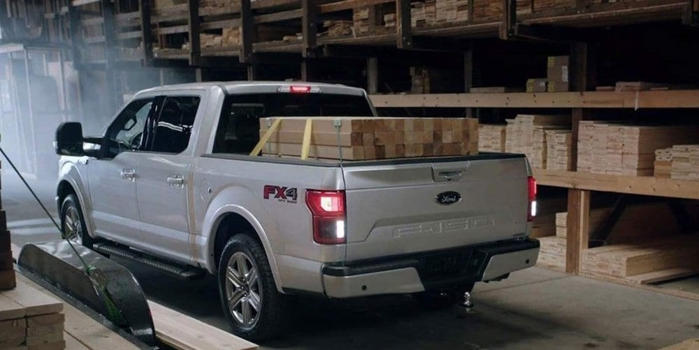 2019 Ford F-150 with Lumber