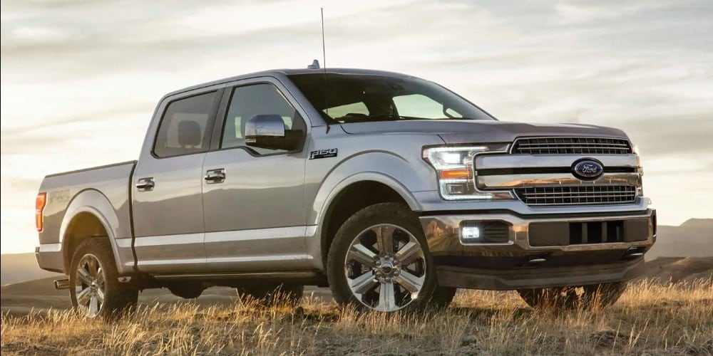 Silver Ford F-150 SuperCrew