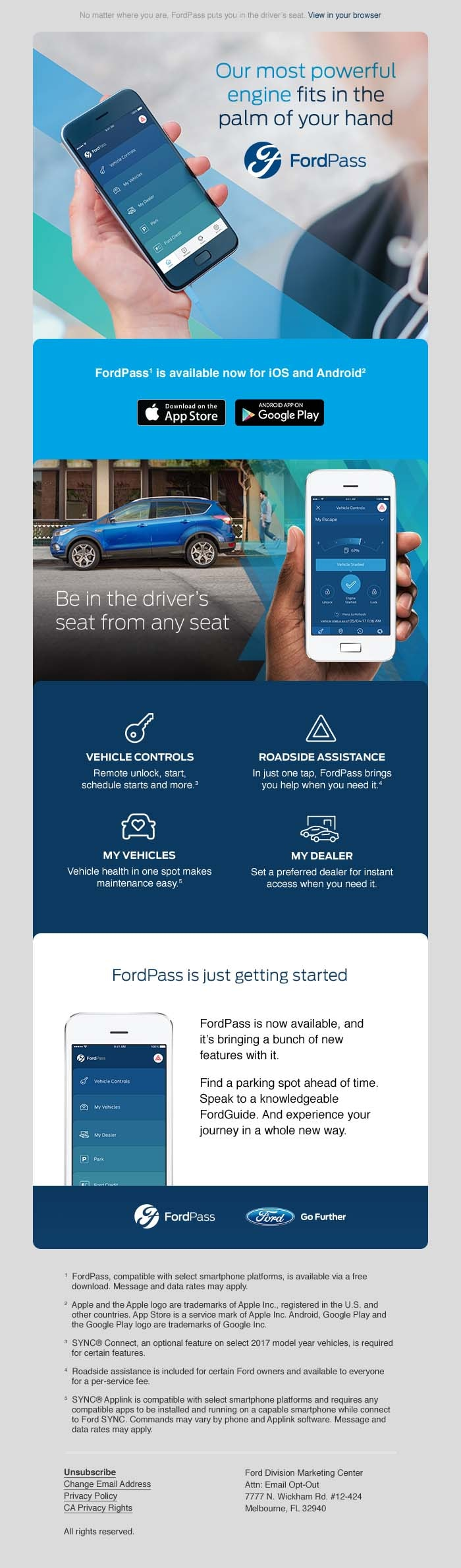 Innovative Ford technology with the FordPass at Auffenberg Ford O'Fallon