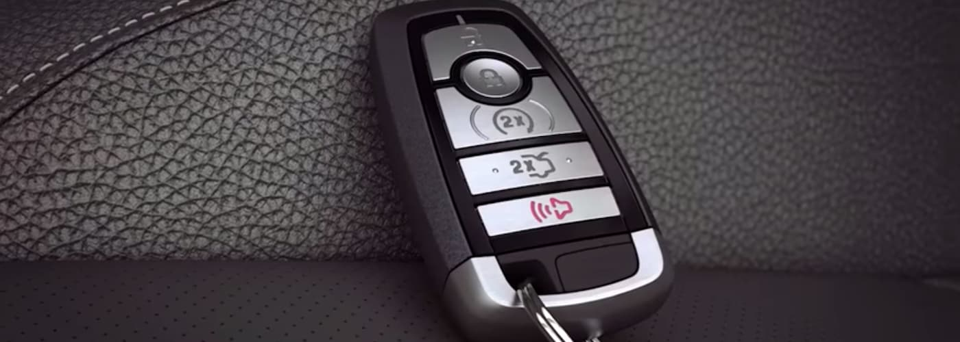 Ford Key Fob on Leather Seat