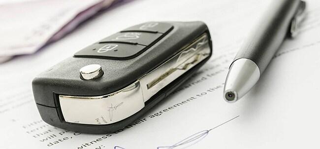 Car Keys and Document