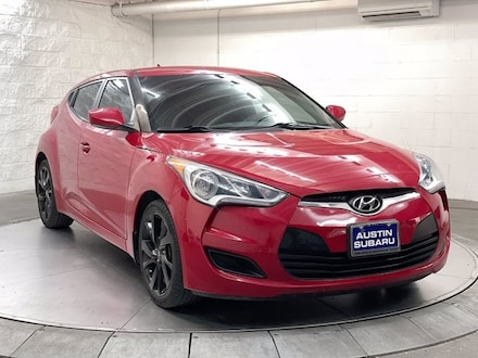 Featured used 2016 Hyundai Veloster Base Hatchback for sale in Austin, TX