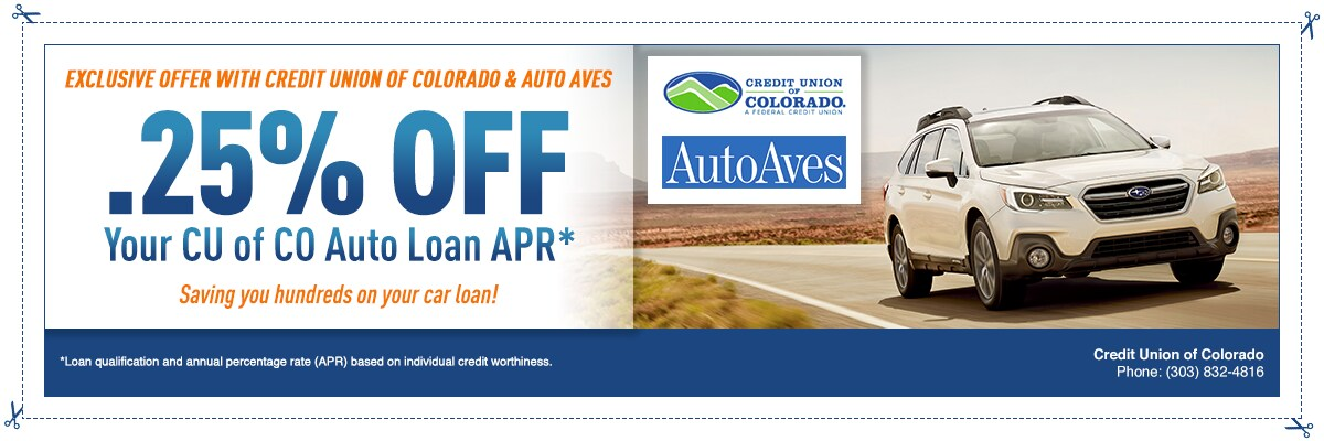 Auto aves exclusive partnership with credit union of colorado auto aves credit union of colorado exclusive offer publicscrutiny Gallery