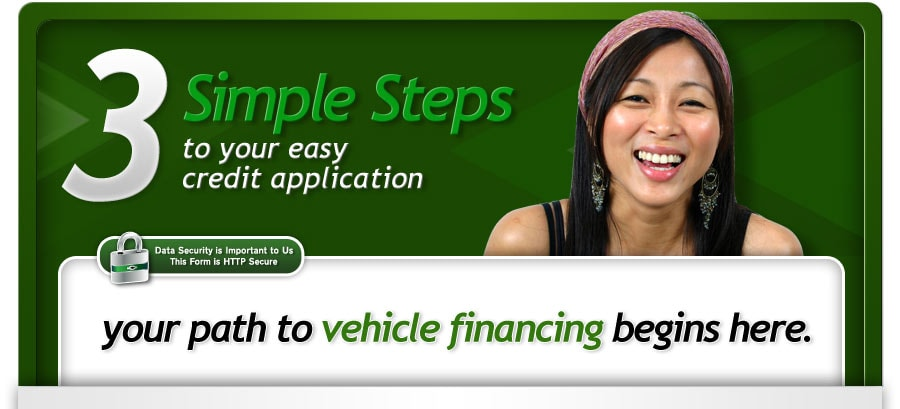 3 simple steps to your easy credit application