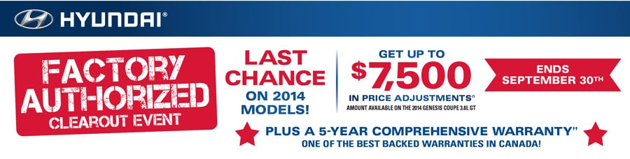 Grande Prairie Hyundai >> Hyundai Factory Authorized Clearout Event On Now In Grande