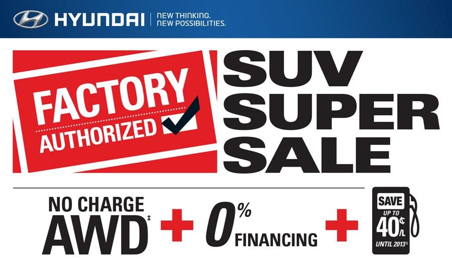 SUV Super Sale at 401 Dixie Hyundai