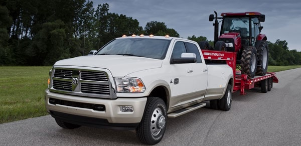 2012 Ram HD 3500 with increased towing capacity