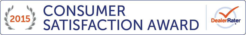 2015 DealerRater Consumer Satisfaction Award