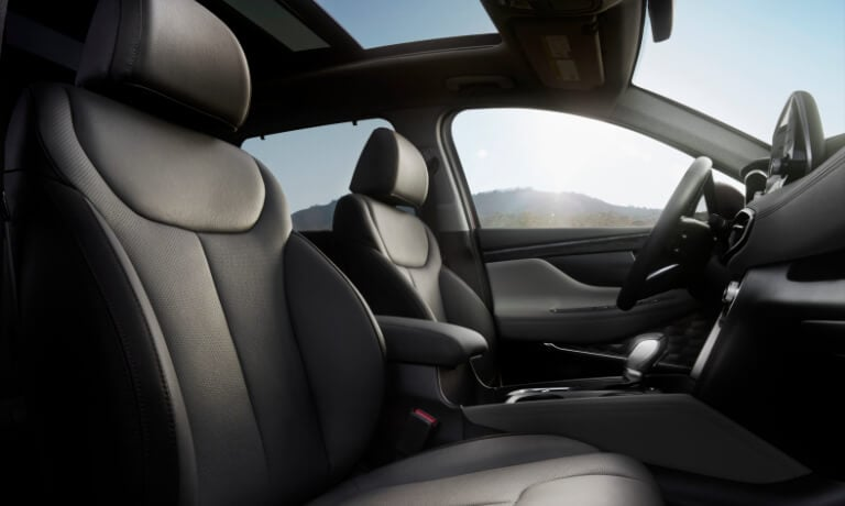 2020 Hyundai SantaFe interior front seats view from the passanger side