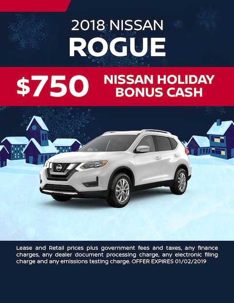 $750 Nissan Holiday Bonus Cash
