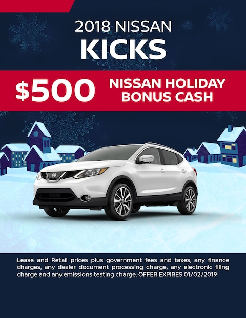 $500 Nissan Holiday Bonus Cash