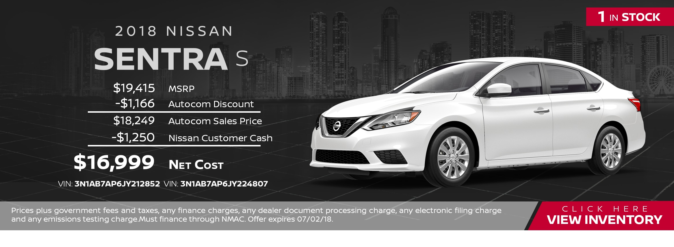 San Leandro Nissan Specials >> New Vehicle Specials Autocom Nissan East Bay In San Leandro Ca